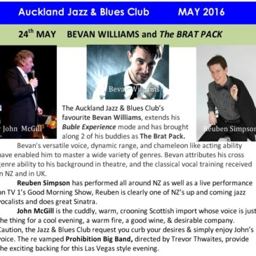 Brat Pack with Prohibition Big Band at the Jazz & Blues Club